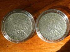 "2 x Rare SILVERCOINS: 3 Mark Baden ""G"" 1912 + Bayern 1909 ""D"", Friedrich II+Otto"