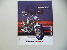 advertising Pubblicità 2001 MOTO BETA EURO 350