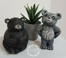 Lot of 2 Small Bear Figurines Forest Animals Collect Kitsch Nic Nac Bric A Brac