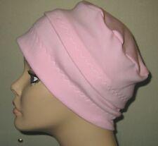 Chemo Hat 3-Band Pink Cancer Hijab Alopecia Hair Loss Yoga Made in USA