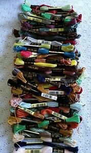VINTAGE DMC 125 SKEINS LOT EMBROIDERY CROSS STITCH FLOSS NEW