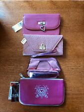Lot of 4 Pink Wallets Mundi Genuine Leather Icing Clinique & XOXO