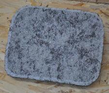 Grabplatte Grabstein Tier Grabmal massiv mit Schrift 26 x 35 cm Urne rau grau