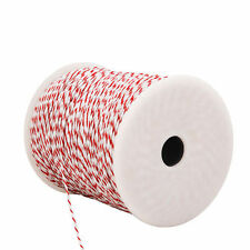 500m Poly Wire Roll Electric Fence Energiser Insulator Polywire Stainless Steel