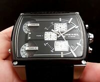 NEW OLD STOCK DIESEL MOTHERSHIP DZ7326 CHRONOGRAPH 3 TIME ZONE QUARTZ MEN WATCH