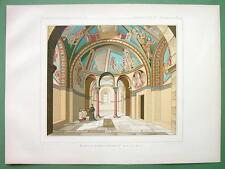 GERMANY Interior of Schwarzheindorf Church !! COLOR Litho Print