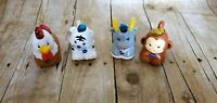 Lot  4 Vtech Go Go Smart Wheels Animals Monkey Goat Chicken Tiger Talking Sounds