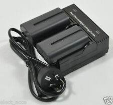 2X 2A Battery+Dual Charger for Sony NP-F330 NP-F550 NP-F570 F530 NP-F750 NP-F970