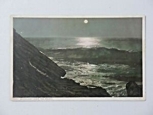 Moonlight Over the Pacific Phostint Postcard Unposted White Border 9056