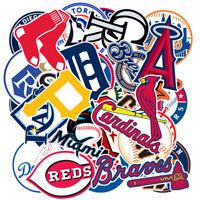 30Pcs Baseball team Stickers Bomb Laptop Luggage Luggage Skateboard Vinyl Decals