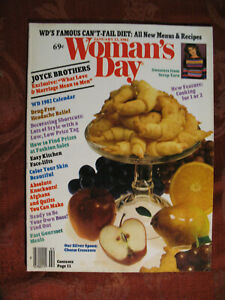 WOMANS DAY magazine January 12 1982 Joyce Brothers Eat All Day Diet
