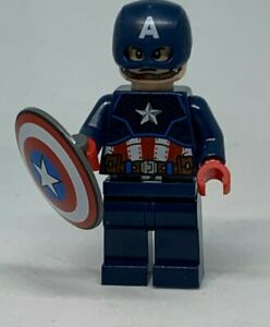 New Official LEGO Minifigure - Captain America - sh686 [76168]