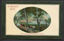 C1910 Studio Art Card 'A Beauty Spot' Country Scene