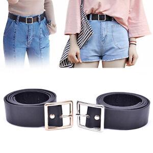 Fashion Women Girls Belts Leather Square Metal Pin Buckle Waist Belt Waistb .BI