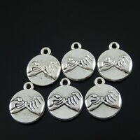20pcs zinc alloy Jewelry making Pinky Swear Promise pendants 15x17mm 1A1602