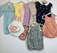 Gymboree 11-Piece Lot, Baby Girl Size 3-6 Months, Pants, Rompers, Hat, Dress EUC