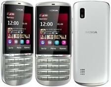 New Condition Nokia Asha 300 Silver White 3G Unlocked 5MP Tocuh & Type Phone