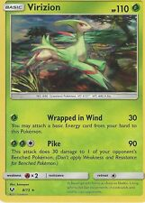 POKEMON SHINING LEGENDS CARD: VIRIZION - 8/73 - RARE HOLO