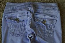 TRUE RELIGION JULIE 26X33 Jeans NWOT$249 Skinny-Stretch-RARE SHADED PURPLES