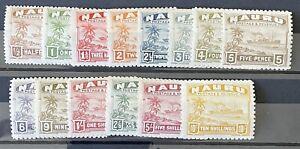 Nauru 1924. 1/2d To 10/.  Set Of 14 Stamps (MH)