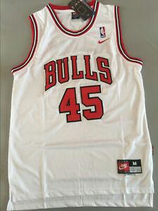 New Michael Jordan #45 Chicago Bulls Throwback Swingman Jersey White Size S-XXL