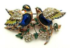 Vintage Corocraft Pegasus Sterling Bill and Coo Sapphire Belly Lovebirds Duette