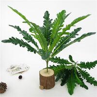 1 Stem Artificial Green Fern leaves Bush Brunch for Wedding Greenery Plants