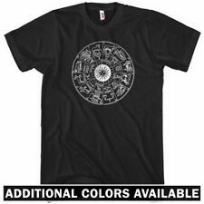 Zodiac T-shirt - Men S-4X - Gift Hipster Astrology Signs Circle Constellations