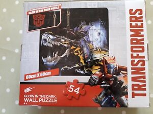Transformers Glow in The Dark 54 Piece Wall Puzzle Self Adhesive Jigsaw   New
