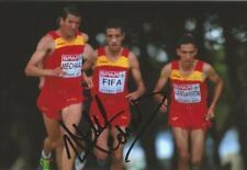Atletismo: Adel Mechaal firmado 6x4 foto de acción + certificado De Autenticidad * España *