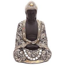 Thai Buddha Metall-Effekt 45cm hoch Dekoration Figur Statue NEU