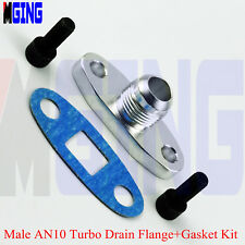 AN-10 MALE 10 AN Fitting TURBO OIL DRAIN OUTLET Flange Gasket ADAPTER KIT T3 T4