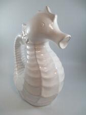 Cape Coral Seahorse Decorative Pitcher White Ceramic