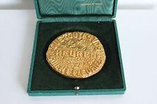 Presse papier médaille en bronze monnaie de paris signé Bernstein proverbe 1973