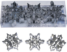 NEW SNOWFLAKE  DETAILED CUT OUT  COOKIE CUTTER  SET (1)
