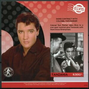 Tanzania 2017 MNH Elvis Presley His Life in Stamps Celebrities Music 1v S/S I