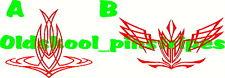 Pinstripe pinstriping custom motorcycle  fender hood vinyl decal SET OF 2