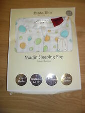 Bubba Blue Muslin Bamboo Sleeping Bag Small Baby 3-6 Months Breathable