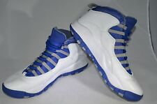 Nike Air Jordan X 10 Retro TXT White/Old Royal-Stealth Royal 487214-107 SZ 10