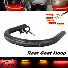 Rear Seat Hoop Frame Loop w/LED Brake Turn Signal Light For Cafe Racer Honda CB