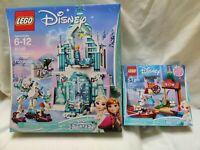 LEGO DISNEY FROZEN 41148 &41145 Elsa's Magical Ice Palace Market Adventure lot 2