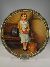 Norman Rockwell 1985 A Young Girl's Dream Knowles Collector Plate Box and Papers