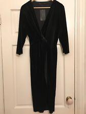 stunning Zara black velvet wrap over dress size S and  L BNWT