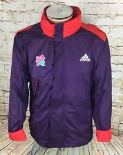 London 2012 Paralympic Games Adidas Coat Jacket Purple Sz Large / L Mens