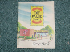 Vintage Top Value Stamps Saver Book 1960's 1970's Unused egm