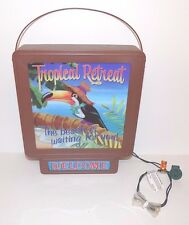 Tropical Retreat Illuminated Welcome Sign The Beach is Waiting for You Toucan Bi