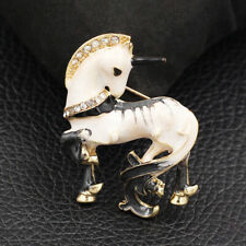 Betsey Johnson Enamel Crystal Cute Pony Horse Unicorn Charm Animal Brooch Pin