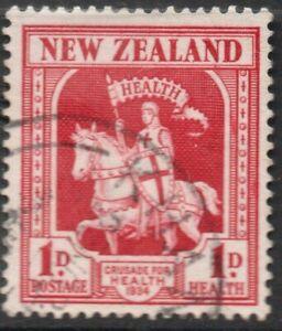 D7 ;  NZ 1934 HEALTH - CRUSADER 1d ; FINE-USED ( cat. $ 35.00 F.U. )
