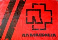 RAMMSTEIN FLAGGE FAHNE LOGO ROT REISE REISE POSTERFLAGGE POSTER FLAG STOFF