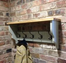 Shabby Chic/coat Rack/coat Hanger/shelf/cabinet/wall Unit In French Gray